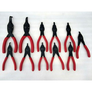 11pc Snap-on Convertible Snap Retaining Ring Pliers Set Red Handles Made in USA