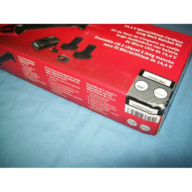 NEW Snap-on™ Lithium Ion CTR767GMK2 14.4V 3/8