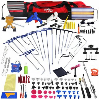 160x PDR Paintless Dent Removal Lifter Hook Push Rods Glue Car Repair Tools Kit