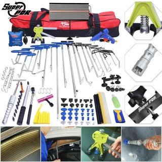 115× PDR Rods Tools Paintless Dent Repair Dent Lifter LED Light Hail Removal Set