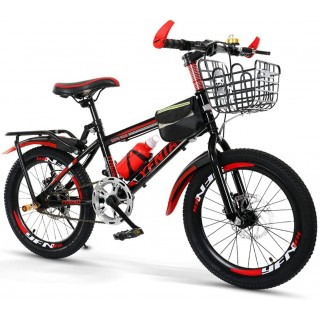 Aon-MX Sports Outdoor Kids Bike Bicycle for 7-14Years Old Boys and Girls with Fenders, Bells, Water Bottles, Baskets, Rear Seats, Bicycle Bags, Bicycle Locks, Pumps, Brackets
