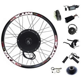 135mm Dropout 72V 2000W Rear Wheel Motor, 70-75km/h 2000W Electric Bike Kit,Electric Bicycle Conversion Kit with Mutifunction SW900 Display,72V 45A sine Wave Controller, with 7 Speed flywheel