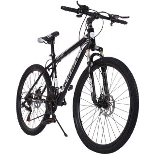 26 inch 21 Speed High Carbon Steel Mountain Bike, Full Suspension MTB Bicycle for Adult, Double Disc Brake Outroad Mountain Bicycle for Men Women,Fast Delivery [ USA in Stock ]