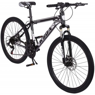 Adult Mountain Bike,26 Inch 21 Speed MTB Bikes,Aluminum Frame,Linear Pull Brakes,Full Suspension Non-Slip Bicycle for Man Woman