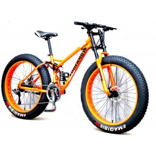 CHICAI 24/26-inch Adult Mountain Bike High Carbon Steel Cross Country Bike 21/24/27/30 Speed Bike Full Suspension Bike Equipped with Double Disc Brake Mountain Bike