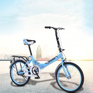 20in Folding Bike 7 Speed Ultra-Lightweight Mini Complete Cruiser Bikes for Adult & Students, Portable Foldable Bicycle Adult Urban City Road Bikes, Beach Cruiser Bikes for Women & Men, US Stock