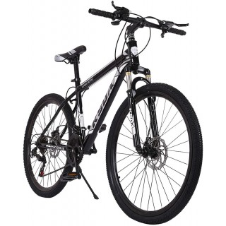 26 Inch Mountain Bike, 21 Speed Stone Bicycle, Adult Road Offroad City Bike, Aluminum Frame, Front and Rear Linear Brakes for Men Women