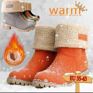 Ladies Thick Fluffy Warm   Boots