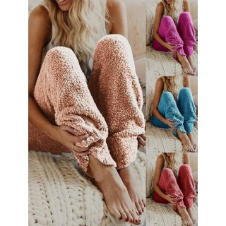 Pants -   Cony Hair Casual Paneled Pants(Buy 2 Got 5% off, 3 Got 10% off Now)