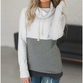 Clothing   2021 Fashion Patchwork Long Sleeve Hoodies
